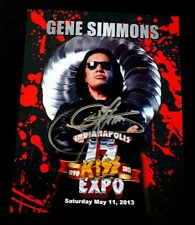 Gene Simmons Signed Blood 2013 Indianapolis Expo Photo Autograph