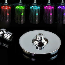 8-inch RGB LED Automatic Light Stainless Steel Rain Shower Head Bathroom