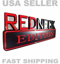 REDNECK EDITION car truck WILLYS EMBLEM HUMMER LOGO studebaker BADGE decal BLACK