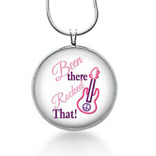 Been There, Rocked That Jewelry, Guitar pendant, Music Necklace, pendant jewelry