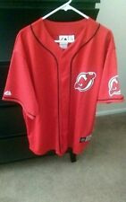 NWT New Jersey Devils baseball jersey.  Size xl,  color red
