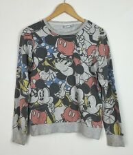 MICKEY MOUSE DISNEY RETRO PRINT BRIGHT SWEATER SWEATSHIRT JUMPER FESTIVAL UK 8