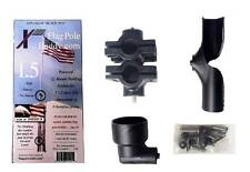 RV Flag Pole Mount Set 1.5 inch by FlagPole Buddy for 16 Foot Tall Poles (Black)