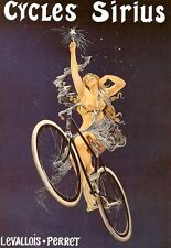 Art Deco Poster Sirius  Bicycle Cycle Bike Ad Print