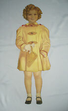 ANCIENNE POUPEE A HABILLER EN PAPIER SHIRLEY TEMPLE EPOQUE 1930 CHROMO