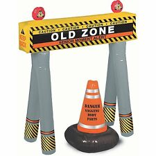 "Adult Birthday Party Goofy ""Over The Hill"" Barricade 3 1/4' Tall Old Zone"