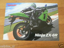 HAP-071 KAWASAKI BROCHURE NINJA ZX-6R 2005 ENGLISH 2 PAGES PROSPEKT,FOLDER,MOTO