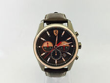 101N FERRARI SCUDERIA GTB-C MENS WATCH WITH BROWN LEATHER STRAP ION PLATED