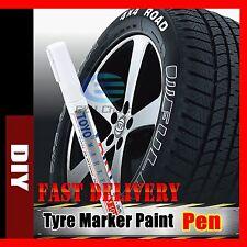 Waterproof Car Tyre Tire Plastic Metal Tread Paint Pen White Marker Motor Bike