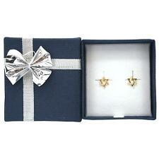 14K Yellow Gold Star of David Earrings with Bow Tie Jewelry Gift box