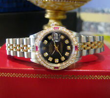 Ladies ROLEX Oyster Perpetual Datejust Diamond Stainless Steel Yellow Gold Watch