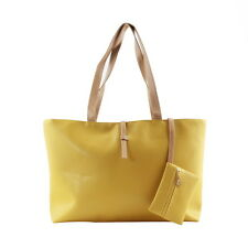 New Designer Large Womens Leather Style Tote Shoulder Bag Handbag Ladies UM