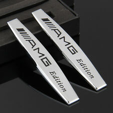 2pcs 3D Car Fender Badge Emblem Sticker For AMG A B C E S G R GL GLK SLK series