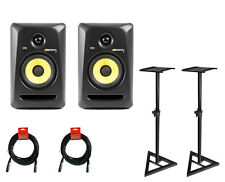 KRK Rokit 5 G3 Active Studio Monitors with Monitor Stands and Cables