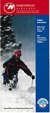 NORTHWEST AIRLINES - NONSTOP & DIRECT TIMETABLE - 15 DECEMBER 1994