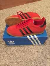 Adidas Milano Shoes Size 9.5 Men Brand New In Box Red Black Gum