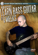 LEARN TO PLAY BASS GUITAR IN 8 WEEKS INSTRUCTIONAL LESSONS DVD JASON SHEPHERD