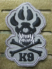 K-9 TRACKER DOG FOLIAGE ISAF TACTICAL MORALE SEW-ON PATCH TOUCH FASTENER NEW