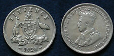 MONETA COIN AUSTRALIA KING GEORGE V° SIX PENCE 1928 - ARGENTO SILBER SILVER