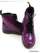 New Doc Martens Delaney UK 3 US 5 Purple Patent Leather Zip Side Boots