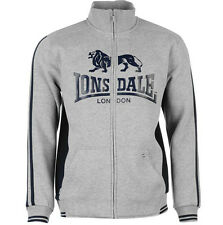 NEW MEN'S FULL ZIP LONSDALE HOODY Hoodie TRACKSUIT TRAINING SIZE SMALL RRP 39.99