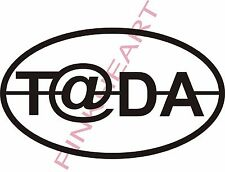 Tada small t@da decal graphic teardrop trailer rv camper sticker graphics T@DA