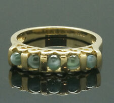 9Carat Yellow Gold Alexandrite Cat's Eye Eternity Ring (Size N 1/2)