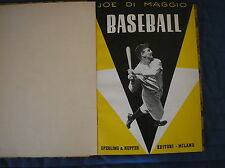 JOE DI MAGGIO BASEBALL 1952 ITALIAN BOOK LIBRO SPERLING KUPFER BABE RUTH