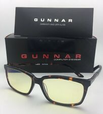 New GUNNAR Computer Glasses HAUS 52-15 140 Tortoise Frame w/ Amber Yellow Lenses
