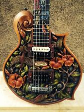 Blueberry SPECIAL ORDER  Handmade Electric Guitar Floral - FIVE MONTH DELIVERY