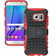 Exact Tank Shock Proof Tough Rugged with Kickstand for Samsung Galaxy S7 Red