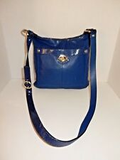 COACH F16533 Penelope Blue Leather with Snakeskin Crossbody Shoulder Bag RARE
