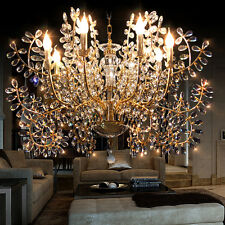 NEW 8 Arms Candle Crystal Chandelier Indoor Light Pendant Light Wall Fixture