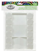 Painting Palette with 12 Storage Paint Pot Cups with Lids Mix and Store RTN-127