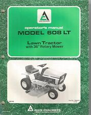 "Allis Chalmers Model 608LT Lawn Tractor with 36"" Mower Operator's Manual"