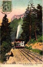 CPA Aix-Les-Bains - Chemin de fer du Revard Une tranchee (252367)