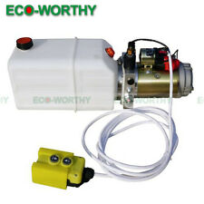 2200W DC 12V Volt 6 Quart Single Action Hydraulic Pump,High Power Dump Trailer