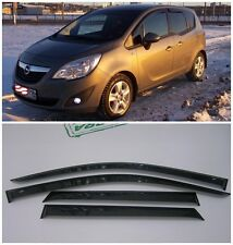 For Opel Meriva B 2011-2016 Side Window Visors Sun Rain Guard Vent Deflector