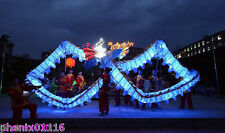 CHINESE Blue illuminated DRAGON DANCE  Costume Led Lights 14M For 8 adult