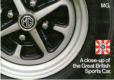 MG 1972-73 UK Market Sales Brochure Midget MGB MGB GT