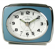 Acctim 13879 Retro 2 Alarm Clock Blue Brand New Fast Postage