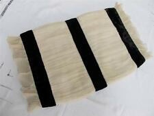 VINTAGE 1930's CREAM CREPE & BLACK VELVET LADIES HAND MUFF WARMER