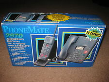 PhoneMate 2970 Answering Machine w/ Phone & Satellite Extension - NEW
