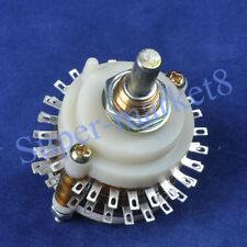 5pcs 2pole 24Step Rotary Switch Attenuator Volume Control DIY Pot Potentiometer