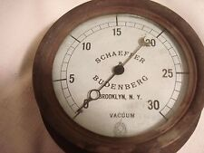 Vintage.....Metal.......Vacuum.....Gauge.....Brooklyn, N.Y