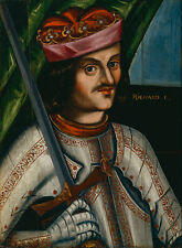 Richard I The Lionheart King of England Portrait Sword  7x5 Inch Print