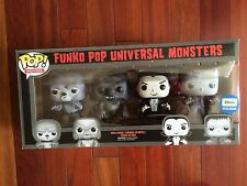 FUNKO POP UNIVERSAL MONSTERS EXCLUSIVE SILVER SCREEN 4 PACK-PIECE SET~NEW~RARE