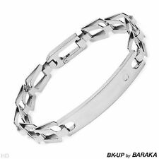 BK-UP by BARAKA Men's Stainless Steel Bracelet 8 inch Made in Italy BN