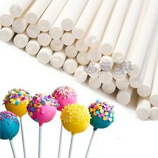 100X WHITE LOLLIPOP STICKS / CHOCOLATE/ SWEET /CAKE POPS / LOLLIES / CRAFT TOOL