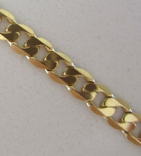 Brand New 9ct Gold Pendant Curb Chain Necklace 22 inch 15.5 grams £435